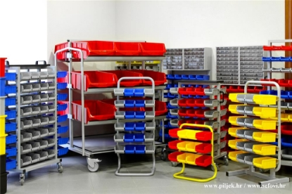 Picture of Metalna kolica sa plastičnim kutijama (set)