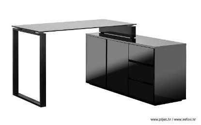 Picture of Uredski stol s ormarom, Marin (visoki sjaj)