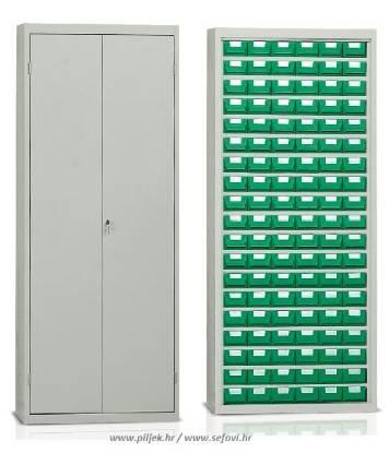 Picture of Metalni ormar s plastičnim kutijama za sitne dijelove BP-E222