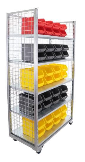 kolica za radionicu s kutijama